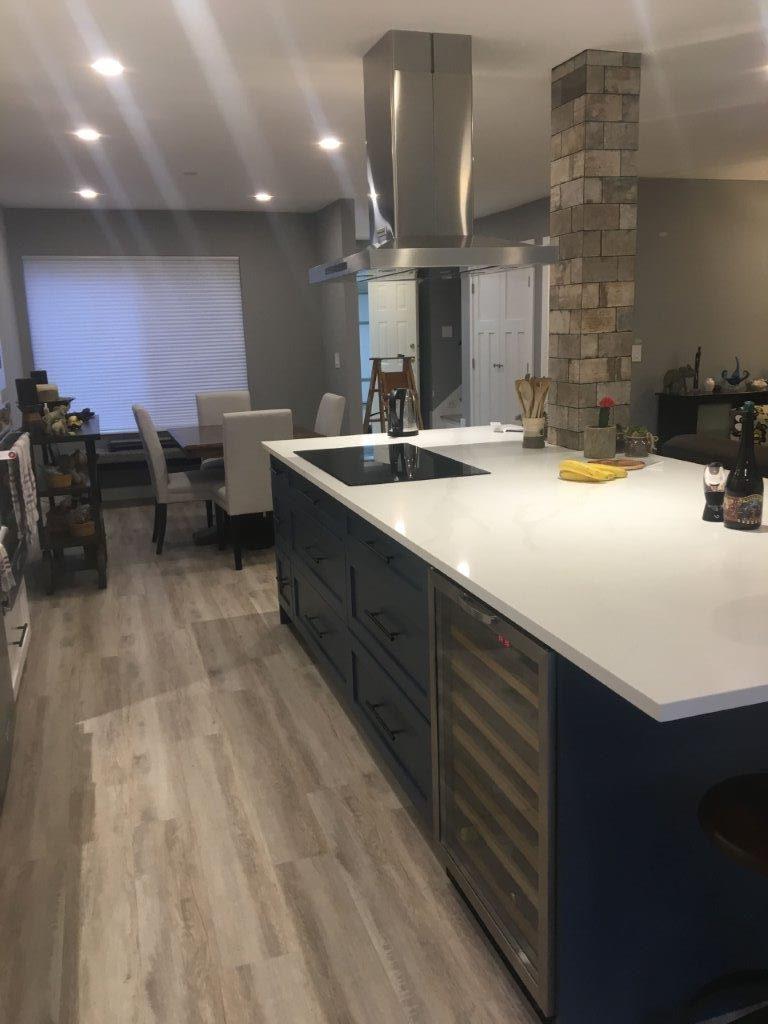 pot light installs project kitchen
