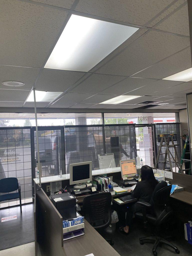 reception ceiling