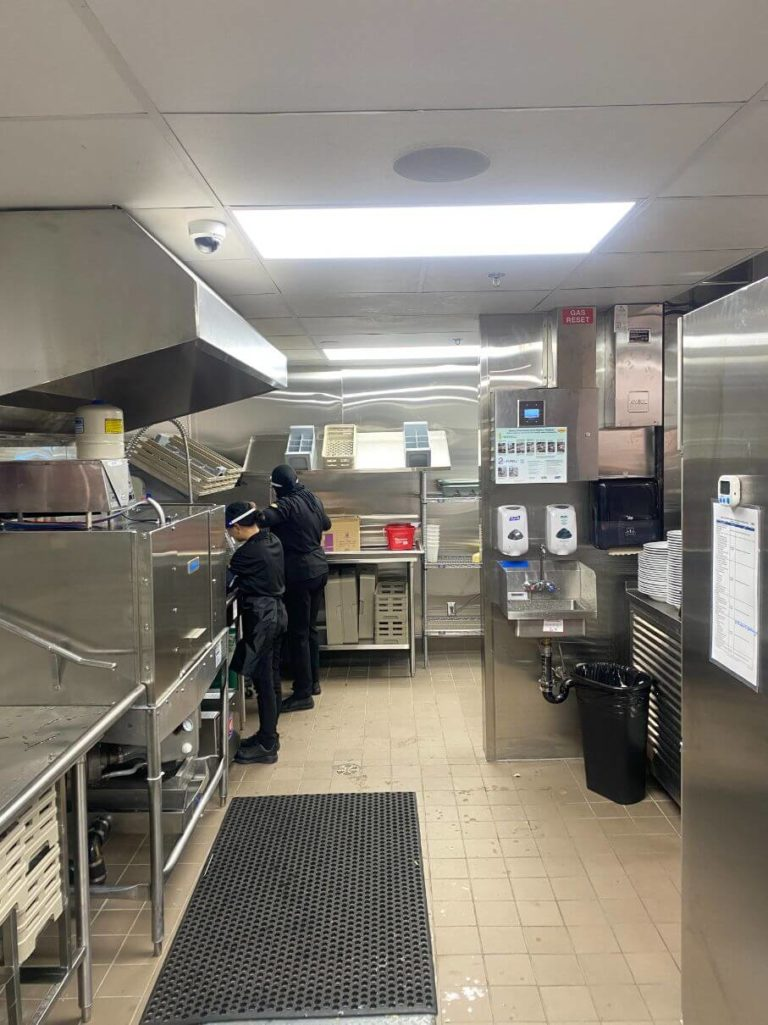 Denny's kitchen interior