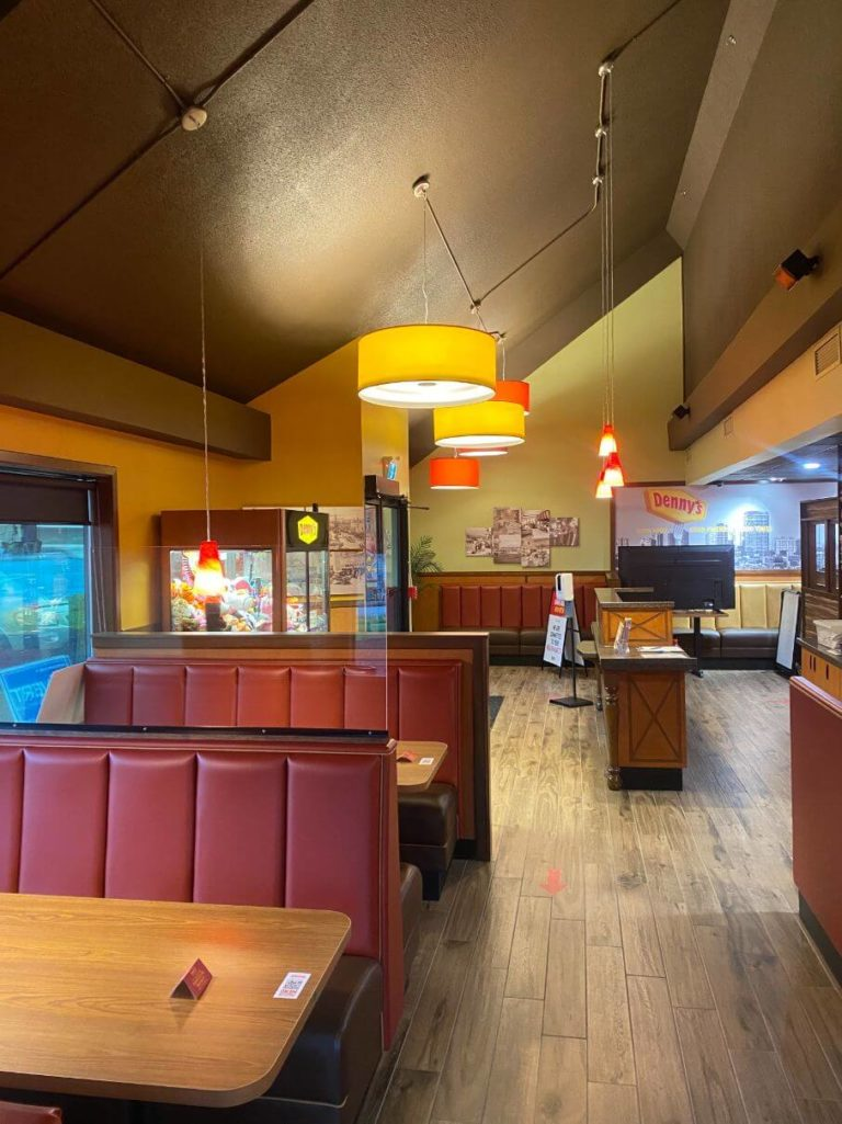 Denny's dining area - lighting